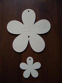 Materiál ručne robený - Kvietky - dekorácia 2 ks - 1159288