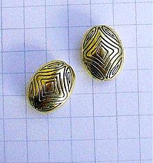 Korálky - kovová korálka 2,3 cm/ 1 ks - 1165143