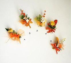Pierka - Svadobné pierka oranžové - 1166276