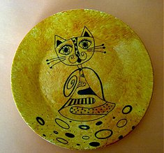 Nádoby - cica mica na tanieriku - 1170401