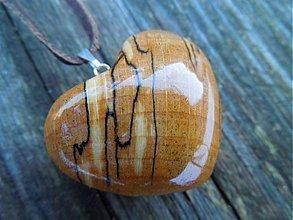 Náhrdelníky - Klenové srdce - 1172168