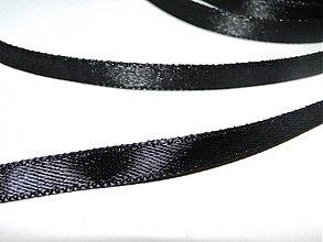 Galantéria - Satén.stuha 6,5mm-1m (čierna) - 1174172