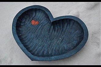 Nádoby - Miska purpurové srdce - 1177110