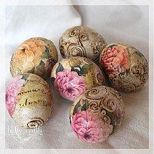 Dekorácie - Kraslice s ružami - 1179431