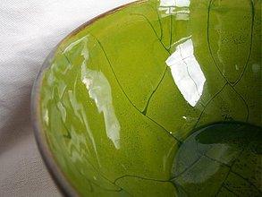 Nádoby - miska zelená veľká  - 1180087