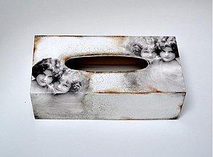 Krabičky - Box na vreckovky vintage - 1180342