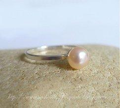 Prstene - Strieborný s riečnou perlou - 1180733