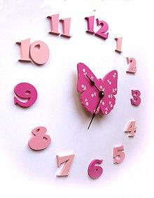 Hodiny - motýlie hodiny - 1181116