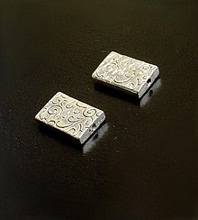 Korálky - kovová korálka/ 1 ks - 1181461