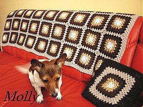 Úžitkový textil - štvorčeky-prikrývka + vankúš - 1185733