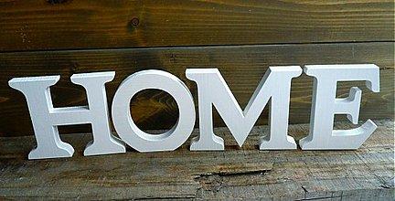 Dekorácie - 11cm HOME samostatne stojace - 1189185