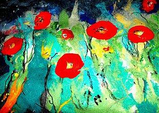 Obrazy - lúka plnáááá kvetov - 1199008
