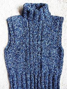 Detské oblečenie - modrá vestička - 1204291