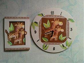 Hodiny - Sada hodiny a obrázok Žirafky - 1206692