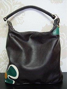 Kabelky - Kožená kabelka Maťka s kvetom-rôzne farby - 1206941