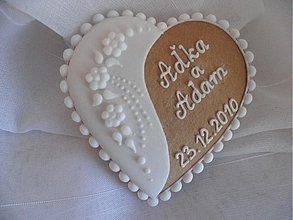 Darčeky pre svadobčanov - Svadobný medovník č.4 - 1207608