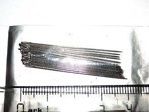 Galantéria - Ihly na perličky (38mm-5ks) - 1213592