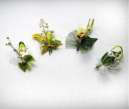 Pierka - Svadobné pierka zelenkavé - 1216138
