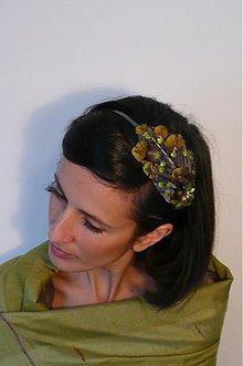 Ozdoby do vlasov - Sivo-zelená by Hogo Fogo - 1218685