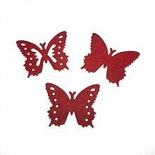Papier - S076 Výseky z papiera - motýle, 3,2x2,6 cm, 3 ks - 1221340