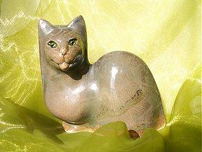 """Dekorácie - mačka"""" zelenoočka"""" - 1222143"""