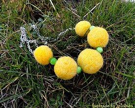 Náhrdelníky - Jarné slnko - náhrdelník - 1232194