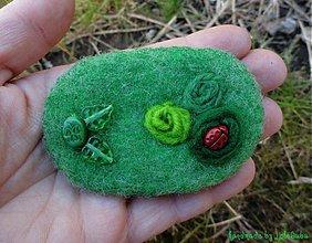 Odznaky/Brošne - Zelená sa zelená - brošňička - 1237042