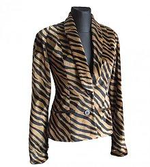 Kabáty - Sako s tigrým vzorom - 1242130