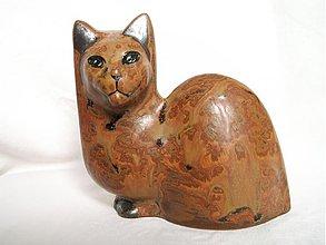 """Dekorácie - mačka hnedá zemitá fľakatá """"mimikry"""" - 1244966"""