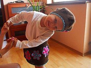 Detské súpravy - Čoko suknička s baretkou - 124790