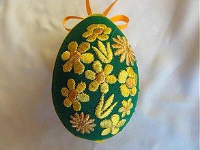 Dekorácie - Veľkonočné vajíčko kvietkované - 1251842