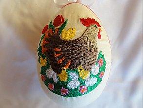 Dekorácie - Veľkonočné vajíčko sliepočka - 1252522