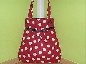 Veľké tašky - Červená bodka s čiernou - 1254787