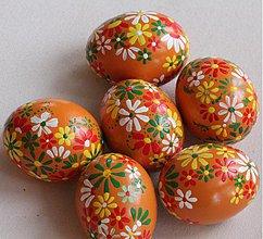 Dekorácie - Oranžové kraslice - 1254805