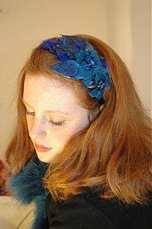 Ozdoby do vlasov - Modrá labuť by HOGO FOGO - 1257643