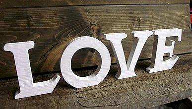 Tabuľky - LOVE 11cm samostatne stojace - 1261661