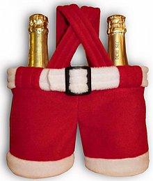 Úžitkový textil - Vianoce/Mikuláš - santovské nohavice z fleecu - 1262233