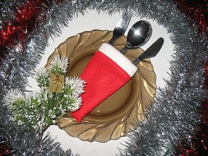 Úžitkový textil - Vianoce - obal na príbor - 1262244