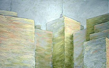 Obrazy - Biznis centrum v hmle - 1265298