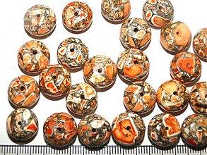 Minerály - MARBLE kameň 8x13mm-1ks (oranžová) - 1272485