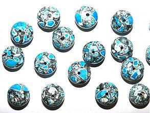 Minerály - MARBLE kameň 8x13mm-1ks (modrá) - 1272493