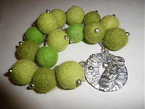 Náramky - Zelené bobule_OB - 1272848