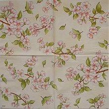 Papier - obrúsok - rozkvitnuté halúzky - 1276173