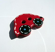 Materiál ručne robený - gOmbík autíčko - 1287355