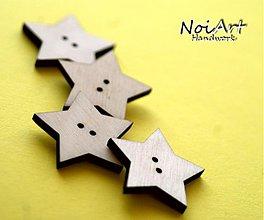 Materiál ručne robený - Gombíček hviezdička 2,5 cm - 1287917