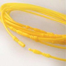 Komponenty - Silikónový náhrdelník bezkovový (žltý) - 1289593