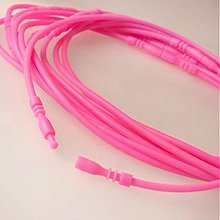 Komponenty - Silikónový náhrdelník bezkovový (crazy pink) - 1289597