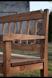 Nábytok - hnědá lavice - 1293254