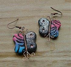 Náušnice - Náušnice motýľ Emanuel - 1295016