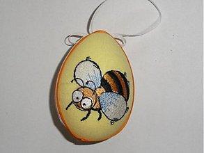 Dekorácie - Veľkonočné vajíčko včielka - 1295440